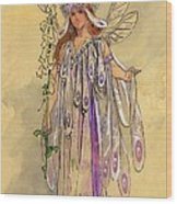 Titania Queen Of The Fairies A Midsummer Night's Dream Wood Print by C Wilhelm