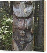 Tlingit Totem Pole, Sitka National Wood Print