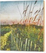 To The Sea Wood Print