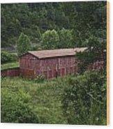 Tobacco Barn From Afar Wood Print