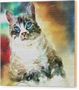 Toby The Cat Wood Print