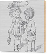 Toddlers 4 Wood Print