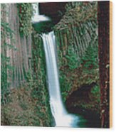Toketee Falls Wood Print
