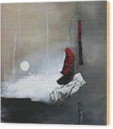 Tokyo Moon Wood Print