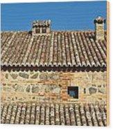 Toledo Terra Cotta Wood Print