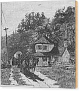 Toll Gate, 1879 Wood Print