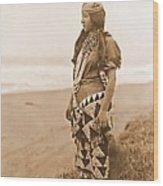 Tolowa Womans Primitive Dress Wood Print
