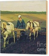 Tolstoy In The Ploughland Wood Print