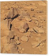 Toltecs, Volcanic Rocks, Mars Wood Print