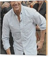 Tom Cruise At Talk Show Appearance Wood Print