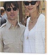 Tom Cruise Wearing Ray-ban Sunglasses Wood Print by Everett