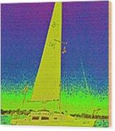 Tom Ray's Sailboat Wood Print