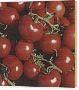 Tomatoes At A Market In Provence Wood Print
