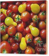 Tomatoes Background Wood Print