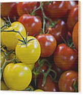 Tomatoes On The Vine Wood Print