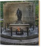Tomb Of The Unknown Revolutionary War Soldier II - George Washington  Wood Print