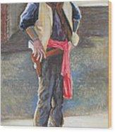 Tombstone Cowboy Wood Print