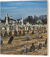 Tombstones Wood Print