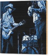 Tommy And Charlie Play Some Blues At Winterland In 1975 Wood Print