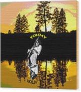 Amber Lake #3 Wood Print