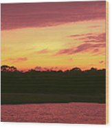 Tomoka River Sunset Wood Print