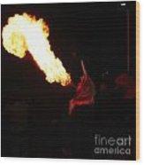 Tongue Of Fire Wood Print