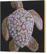 Toni The Turtle Wood Print