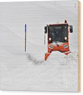 Tons Of Snow - Winter Road Clearance Wood Print by Matthias Hauser