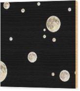 Too Many Moons Wood Print