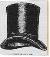 Top Hat, 1900 Wood Print