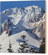 Top Of Mt. Hood Wood Print