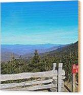 Top Of The Mountain In North Carolina Wood Print