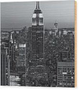 Top Of The Rock Twilight Vi Wood Print