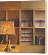 Top Pot's Library Wood Print