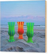 Topsail Hurricane Glasses Wood Print