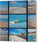 Topsail Island Images Wood Print