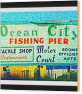 Topsail Island Old Sign Wood Print