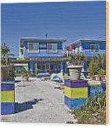 Topsail Island Patio Playground Wood Print