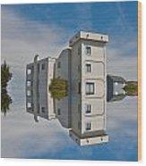 Topsail Island Tower Reflection Wood Print
