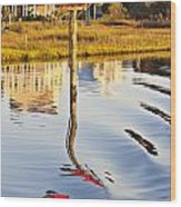 Topsail Sound Sunset Wood Print by Betsy Knapp