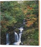 Torc Waterfall, Ireland,co Kerry Wood Print