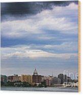 Tornado Over The Capitol Wood Print