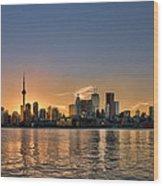 Toronto At Sunset Wood Print