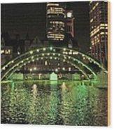 Toronto City Hall At Night Wood Print