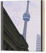 Toronto Cn Tower Canada Wood Print