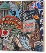 Toronto Pop Art Montage Wood Print