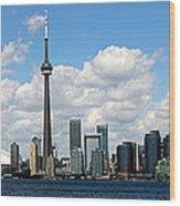 Toronto Skyline 10 Wood Print