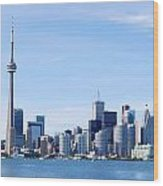 Toronto Skyline Canada  Wood Print