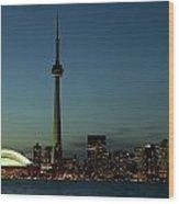Toronto Skyline, Toronto, Ontario Wood Print