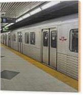 Toronto Subway Wood Print